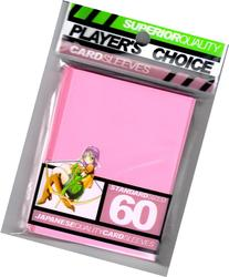 Players Choice Card Supplies STANDARD Card Sleeves Pink 60
