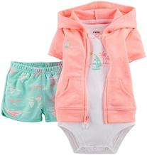 Carter's 3-pc. Cardigan, Bodysuit and Shorts Set - Girls