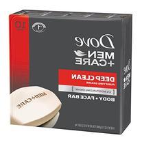 Dove Men+Care Deep Clean Body and Face Bar, 4 oz, 10 Bar