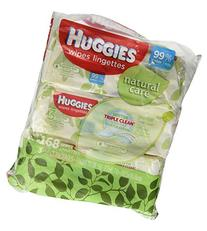 Huggies Natural Care Fragrance Free Soft Pack Wipes - 3