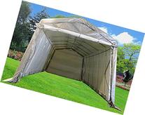 24'x13' Carport Grey/White - Heavy Duty Waterproof Garage