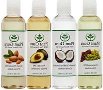 100% Pure Carrier Oil VARIETY-4 PACK- 4 Ounce Bottles--