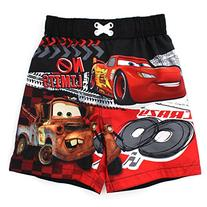 Disney Cars Boys Black Swim Trunks Swimwear