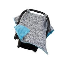 Carseat Canopy with Teal Minky - Car Seat Canopy for Popular