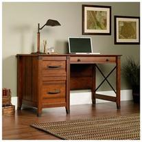 Carson Forge Desk in Washington Cherry by Sauder