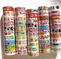 Domire 10pcs Cartoon Decorative Washi Rainbow Sticky Paper