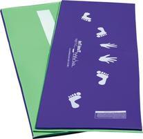 Tumbl Trak Purple and Lime Green Cartwheel Beam Mat, Hands