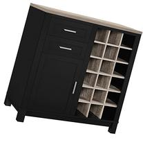 Altra Furniture Carver Bar Cabinet, Black/Sonoma Oak
