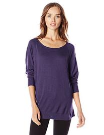 Splendid Women's Cashmere Blend Dolman Sweater, Plum Wine, X