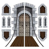 Castle Door & Window Props Party Accessory