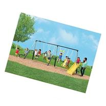 Castleton Swing Set with Slide and SeeSaw