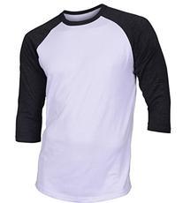 Dream USA Men's Casual 3/4 Sleeve Baseball Tshirt Raglan