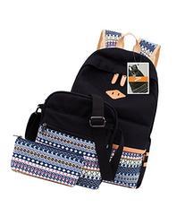 Leaper Casual Lightweight Canvas Laptop Bag Cute School