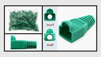 CAT 5e Green RJ45 Snagless Boots with Strain Relief, Bag of