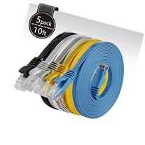 Cat 6 Ethernet Cable 10ft   Flat Internet Network Cable -