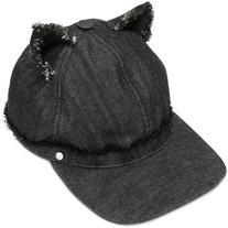 Karl Lagerfeld - cat ears denim cap - women - Cotton - M
