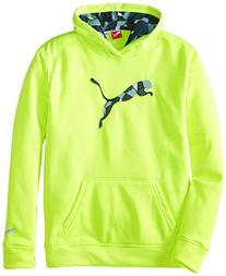PUMA Boys' Big Cat Hoodie , Acid Yellow, Small