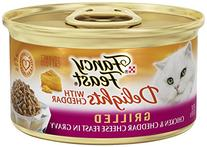 Fancy Feast Wet Cat Food, Delights with Cheddar, Grilled