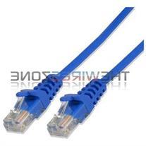 CAT5e 24 Gauge Blue 50' ft 350Mhz UTP Patch Ethernet Network