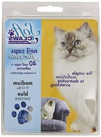 Soft Claws for Cats - CLS , Size Medium, Color Blue