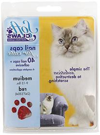 Soft Claws for Cats - CLS , Size Medium, Color Red