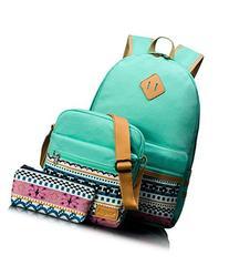 Leaper Causal Style Lightweight Canvas Laptop Bag School