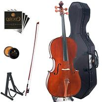 Cecilio CCO-300 Solid Wood Cello with Hard & Soft Case,