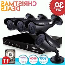 ZOSI 8Channel 720P Video Security System with 1TB Hard Drive