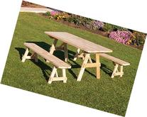 Cedar 4 Foot Traditional Picnic TABLE ONLY *Unfinished *