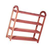 "CedarFresh 4-Tier Cedar Shoe Rack, 26.75""h x 26.75""w x 8.5""d"