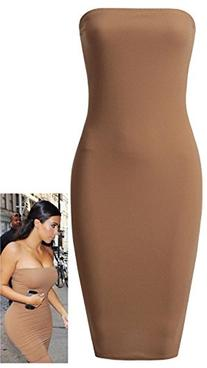 Crazy Girls Women's Celeb Kim Style Boobtube Strapless