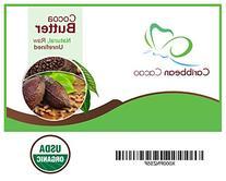 Cocoa Butter Raw Pure Unrefined - 1 LB Food Grade Bar.