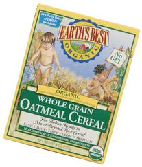 Earth's Best Certified Organic Whole Grain Oatmeal Cereal