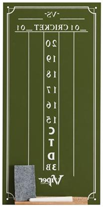 Viper Chalk Scoreboard: Cricket and 01 Dart Games, Green, 15