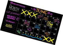 "Extra Large Chalkboard Wall Calendar Decal - 32"" x 16"" - by"