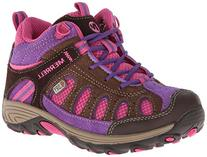 Merrell Chameleon Mid Lace Hiking Shoe ,Brown/Pink,7 M US