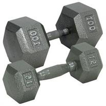 Hex Dumbbell with Straight Handle by Champion - 20 Lbs