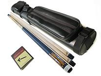 Champion SC-2 2 Shafts Maple Cue Stick + 2 X 2 Leather Case