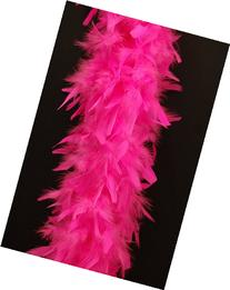80 Gram Chandelle Feather Boa - SHOCKING PINK 2 Yards