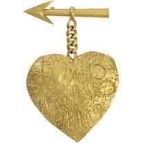 Vintage Chanel Heart Drop Chain Brooch