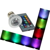 16 Color Changing E27 3W 180LM RGB LED Light Bulb Lamp with