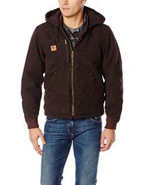 Carhartt Men's Chapman Sandstone Jacket,Dark Brown,Small
