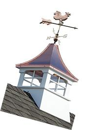 Accentua Charleston Cupola with Rooster Weathervane, 24 in.