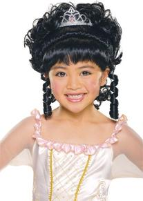 Child Charming Princess Black Wig