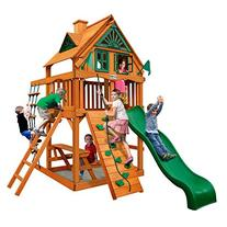 Chateau Treehouse Tower Swing Set with Fort Add-On