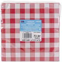 Check Dinner Napkins 16/Pkg-Red & White