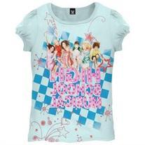 High School Musical - Checkerboard Girl's Light Blue T-Shirt