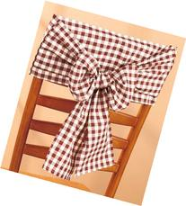 Checkered Chair Bow, Black and White Check