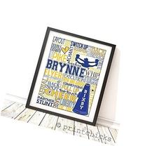 Cheerleading Personalized Typography Print - PrintChicks