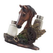 Chestnut Stallion Glass Salt & Pepper Shaker Set with